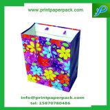 El regalo de lujo del papel de Kraft empaqueta el bolso de papel del partido de la bolsa con las manetas de la cuerda