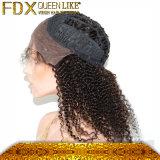 자연적인 머리 선 브라질 사람의 모발 레이스 정면 가발