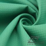 Agua y de la ropa de deportes tela punteada perla tejida chaqueta al aire libre Viento-Resistente 100% de la pongis del poliester del telar jacquar abajo (E094)