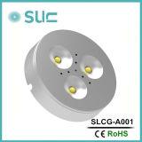 表面によって取付けられるDC12V 3W LEDのキャビネットライト/ランプ