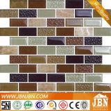 Mosaico de la tira y mármol de cristal de la piedra para el fondo de la pared (M838003)