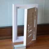White Color UPVC Profile Single Shutter Window Window K02046