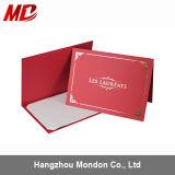 Sostenedor de papel del certificado con la hoja de oro - estilo de la tienda
