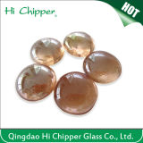 Piqûre en verre ambre-clair d'incendie de pierre gemme