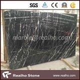 虚栄心の上のための自然な石造りの黒い大理石か台所上または床