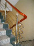 Поручень лестницы самомоднейшей пробки износа строительных материалов деревянный