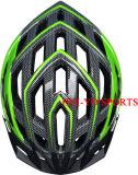 Casque de vélo d'impression de Carbone-Fibre, casque de vélo vert, casque de vélo de Multi-Trou