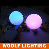 Luz impermeável da esfera do diodo emissor de luz do plástico para a decoração interna e ao ar livre