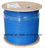 CAT6A 10g, UTP, 23AWG, sólido de cobre desnudo, PVC, 1000FT, azul, cable Ethernet a granel