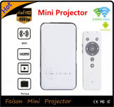 Mini radio del proyector HD 1080P de la más nueva venta caliente con construido en proyector portable lleno de la batería HD mini