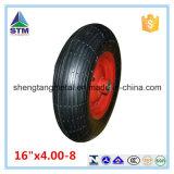 16 roda resistente ao ar pneumática de borracha da polegada 4.00-8 para o trole da mão do Wheelbarrow