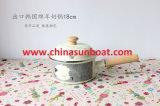 Sunboat 귀여운 만화 양 우유 사기질 남비 수프 남비