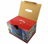 OEM Printing Fulted Box con Plastic Handle