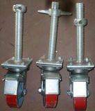 Rueda durable segura del echador del andamio con los frenos