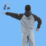Rainsuit dos homens transparentes do PVC do plástico unisex