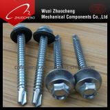 Rubber Washer를 가진 DIN7504 Hex Self Drilling Screws
