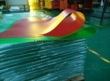 Folha rígida plástica transparente gravada colorida do PVC para Pritning
