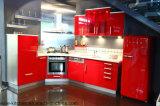 Gabinete de cozinha lustroso elevado