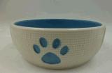 Cat Bowl da faiança com patas