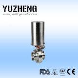 Válvula de borboleta sanitária de Yuzheng para a indústria de leiteria