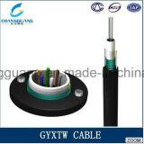 Cable óptico acorazado de fibra de la comunicación de cable de la fibra del solo modo del cable de GYXTW de la cinta de acero de fibra óptica de Unitube