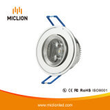3W Aluminum+PC LED Downlight mit Cer