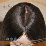 Dos Roots Tono de color oscuro superventas Estilo Jeiwsh superior de seda Sheiteles Pelucas