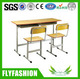 나무로 되는 책상과 의자 학교 가구 세트 (SF-08D)