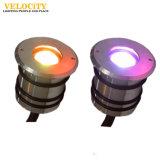 1With3W couleur de l'acier inoxydable IP68 changeant la lumière sous-marine de la lampe DEL de piscine de la CE de RGB/RGBW et de RoHS