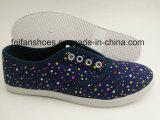 Zapatos con cordones a todo color con precio barato, holgazán de la inyección de la lona de las mujeres del calzado