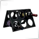 Crémaillère en cuir de mémoire de vin d'unité centrale