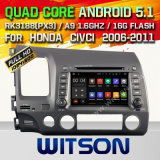 Carro GPS do Android 5.1 de Witson para Honda Civic 2006-2011 (A5710)