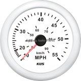 Velocímetro 55mph 12V 24V de la alta calidad 85m m con el contraluz
