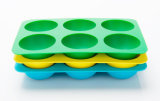 食品等級6キャビティは台所用品のためのシリコーンの角氷の皿を平方する