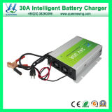 carregador de bateria acidificada ao chumbo do ciclo de 30A 24V Gel/AGM/Deep (QW-30A24)