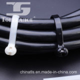 Ataduras de cables de nylon naturales del embutido de la lengüeta del acero inoxidable