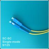 Cuerda de remiendo óptica unimodal de fibra de la PC Sc-Sc