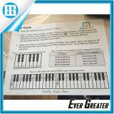 Изготовленный на заказ прозрачный стикер, стикеры винила Keymap Notemap клавиатуры рояля съемные