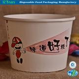 Tazón de fuente de papel disponible para los tallarines inmediatos