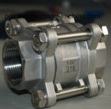 Uma válvula de esfera da linha da parte CF8 com alta qualidade