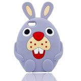 caixa do silicone do coelho dos desenhos animados 3D para o iPhone 6 6splus 7 7plus (XSDW-031)