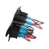 Impermeabilizzare il comitato dell'interruttore di attuatore dei 3 gruppi + il voltmetro di 12V LED + doppio caricatore della presa di potere del USB per il fante di marina/barca/automobile