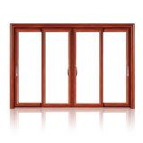 الألومنيوم / الألومنيوم زجاج مزدوج الانزلاق النافذة مع شاشة البعوض (FT-W126)