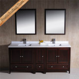Vanità moderna della stanza da bagno di legno solido, Governo del bagno
