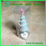 Пластичная ясная прозрачная упаковывая коробка с Silk ручкой тесемки