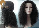 Peruca Curly do cabelo humano do Afro para a mulher preta
