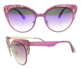2016 vidros de Sun retros do metal dos óculos de sol novos das mulheres do olho de gato do vintage da forma