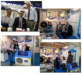 Tankless 60deg sanitario casero c Dhw 220V salva la potencia 5kw, 7kw, calentador híbrido del 80% del Portable de la energía solar de la pompa de calor del aire 9kw alto Cop5.32