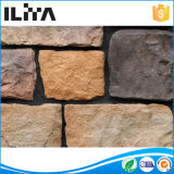 Azulejo de piedra cultivado multicolor de la piedra de campo para el revestimiento de la pared (80006)