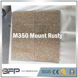 Tuile Polished de pierre de façade de granit pour l'étage de revêtement de mur dans la couleur jaune